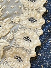 Early Exhibition Worthy Appenzell Embroidered Collar Expert Needlework