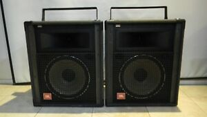 JBL SR4725 Pair PA speakers, 600w, bi-amp & full range Flyable with Hardware
