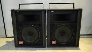 JBL SR4725 Pair PA speakers, 600w, bi-amp & full range Flyable with Hardware