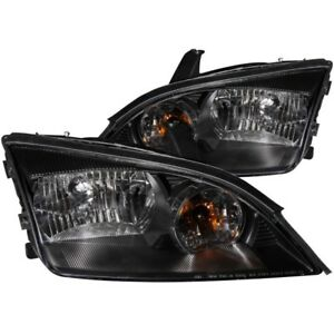 ANZO for 2005-2007 Ford for Focus Crystal Headlights Black - anz121229
