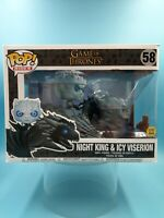 neuf figurine funko pop game of thrones 58 night king & icy viserion