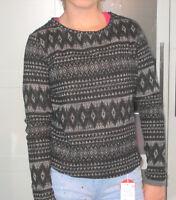 H&M Pulli Pullover grau schwarz Gr. 164 170