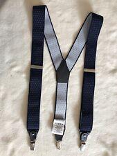 SCALPERS Dark Blue Spot Clip On Braces. Adjustable Size
