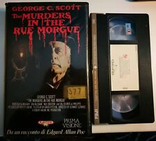 VHS - THE MURDERS IN THE RUE MORGUE di Jeannot Szwarc [PLAYTIME]