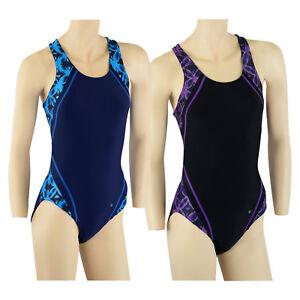 ACCLAIM Belize Atlantic Print Panel Ladies Racer Back Lined Swimming Costume