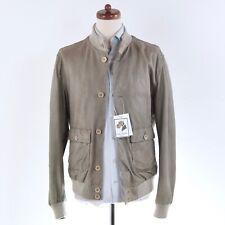GMS-75 Gimos Lederjacke Leather Jacket Grau Putty Grey Butterweich Fühling Soft