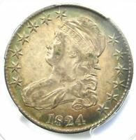 1824 Capped Bust Half Dollar 50C - PCGS XF45 (EF45) PQ - Rare Certified Coin