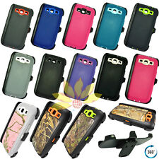 For Samsung Galaxy S3 Case Cover w/Screen & (Belt Clip fits Otterbox Defender)