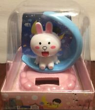 Solar Dancing Rabbit on moon  Bobble Toy USA Seller!!