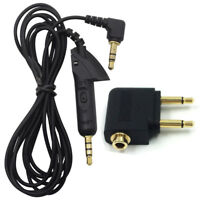 Bose-QuietComfort15 QC15 3.5mm Audio Extension Cable /Airline Adapter Airplane