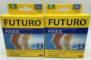FUTURO Comfort Lift Knee Support, XL  Mild Support  76589  *Lot of 2*