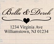custom name self inking personalized family wedding return address rubber stamp