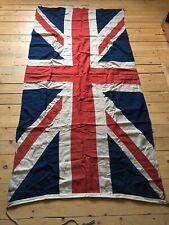 Large 225cm / 88 Inch Vintage Stitched Cotton Union Jack British Flag Antique