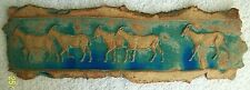 More details for goats. ceramic frieze. plaque. ready to hang. picture