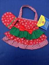 Build a Bear Accessory - Christmas Holiday Cooking Baking Apron & Mitt Set - New