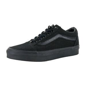 """Vans """"Canvas Old Skool"""" Sneakers (Black/Black) Skateboarding Skate Classic Shoes"""