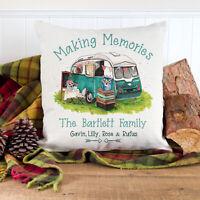 Personalised Camper Van Cushion Cover Caravan Pillow Retro Family Gift KC86