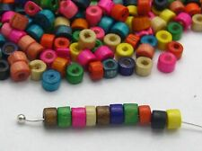 1000 Mixed Color 4X3mm Mini Column Heishi Wood Beads~Wooden