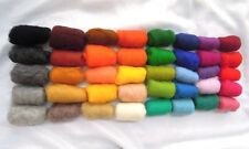 New Zealand Sheep wool for needle wet felting 40 colors 14,1 ounces / 400 grams