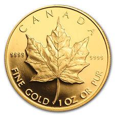 1989 Canada 1 oz Proof Gold Maple Leaf (w/Box & COA) - SKU #36112