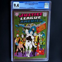 JUSTICE LEAGUE OF AMERICA #54 💥 CGC 9.4 💥 ROYAL FLUSH GANG APPEARANCE! DC 1967