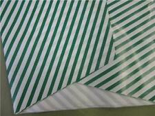 """Flower Bouquet Plastic Sleeves Green/White Stripes large 7"""" x 36"""" 150 pc"""