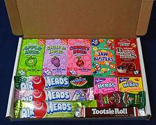 American Candy Gift Box - Birthday Present  - Wonka Nerds - Airheads - Taffy