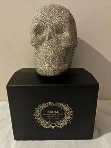 Halloween Glitter Skull Object Pottery Barn sequin silver sparkly bling elegant