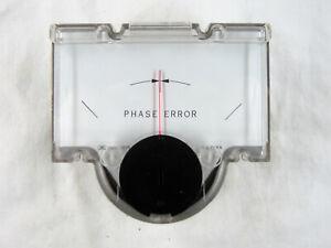 Vintage Simpson Panel Meter Center Zero Labeled Phase Error +- 500 uA Tested