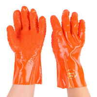 New Dipped PVC Safety Work Gloves Hand Protection Non-slip Fishery Machinery AU