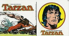 RARE AUTOCOLLANT TARZAN ( ITALIEN DE 1975 ) PAR JOE KUBERT & BURNE HOGARTH