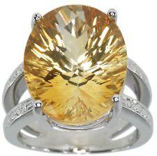 Citrine Gemstone 13.93 carat Sterling Silver Ring size O