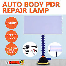 PDR Tools LED Light Paintless Dent Repair Hail Removal 3 Strips Auto Body Lamp