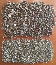 OLD VTG ANTIQUE SMALL MACHINE SCREW FLATHEAD MIXED HARDWARE 3 LBS LOT