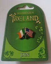 Irish American shamrock pin badge.