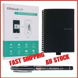 Elfinbook Smart Notebook 2.0 upgraded Pen Erasable Reusable IOS Cloud Au Stock