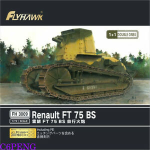 Flyhawk FH3009 1/72 Renault FT 75 BS Unassembled Model Kits 1+1 Double Ones New