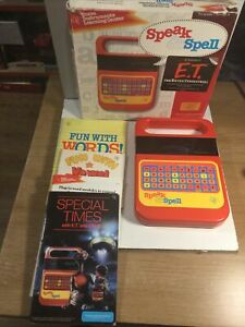 Vintage Speak And Spell Excellent Condition With Books Working In Original Box