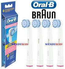 4 ORIGINAL BRAUN ORAL-B SENSITIVE CLEAN TOOTHBRUSH REPLACEMENT HEADS EB17-4 3 2