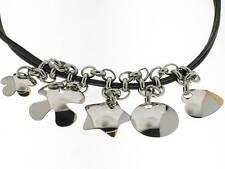 NOMINATION collana Charms pelle nera acciaio e oro 18kt referenza GPRA/001 new
