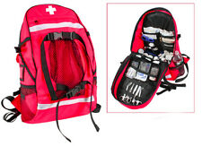 EMT EMS Paramedic Medic Medical Rescue Response RED Trauma Backpack Pack Bag Kit