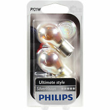 Philips PY21W Silver Vision 21W 12V BAU15s Set 2 Pieces Bulb Chrome indicator