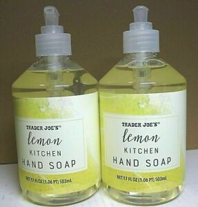 Trader Joe's Lemon Kitchen Hand Soap Set of 2 Two-Pack