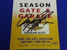Winner Arie Luyendyk Autograph 1997 Indianapolis 500 Season Gate & Garage Pass