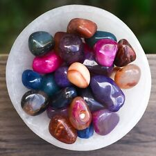 Mixed Agate Small Tumbled Stones, Polished Crystal Gemstones, Bulk Lot - 100g