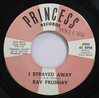 Hear! Bluegrass Gospel 45 Ray Frushay - I Strayed Away / Be God'S Child On Princ