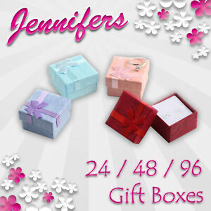 Jewellery Gift Boxes (24~48~96) NEW Ring Earring Jewelry Box Job Lot Wholesale