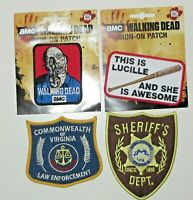 The Walking Dead Collector's Patch Set Of 4 Iron On Patches