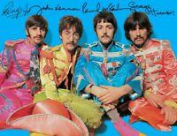 The Beatles Autograph 8x11 John Paul George Ringo Hello, Goodbye I Am The Walrus