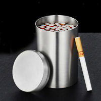 Round Stainless Steel Sealed Jar Cigarette Storage Coffee Sugar Tea Canister